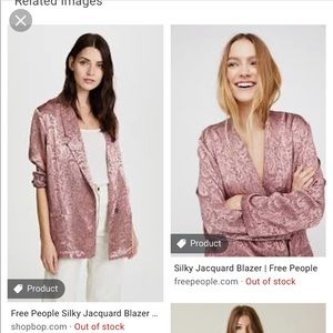 Free People Paisley Pink Blazer
